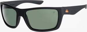 Okulary przeciwsłoneczne Quiksilver Hideout Plz (matte black/green p)