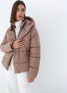 Brązowa kurtka Mohito w stylu casual z kapturem
