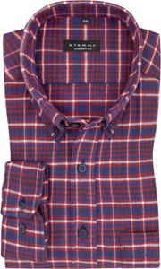 Koszula Eterna z bawełny z klasycznym kołnierzykiem