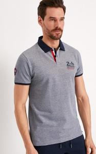 Koszulka polo Diverse z krótkim rękawem z bawełny w stylu casual