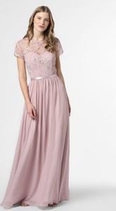 Różowa sukienka Luxuar Fashion z krótkim rękawem
