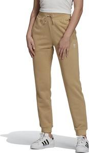 Brązowe spodnie sportowe Adidas z bawełny