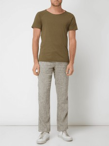 Zielone spodnie McNeal z lnu w stylu casual