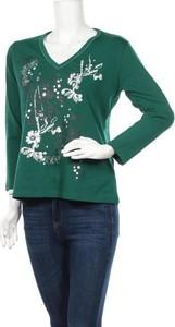 Zielona bluzka Jasmin z długim rękawem