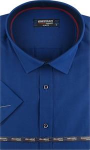 Koszula Massaro z klasycznym kołnierzykiem z tkaniny z krótkim rękawem