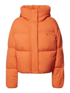 Pomarańczowa kurtka Tommy Hilfiger krótka