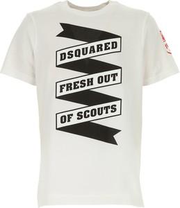 Koszulka dziecięca Dsquared2 z bawełny z krótkim rękawem