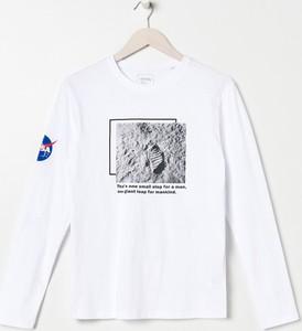 Koszulka z długim rękawem Sinsay z długim rękawem z bawełny