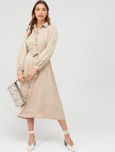 Sukienka V by Very midi z długim rękawem koszulowa