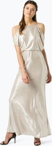 Złota sukienka Lauren Ralph Lauren bez rękawów maxi
