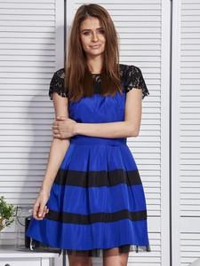 Sukienka Factory Price mini z okrągłym dekoltem z bawełny