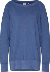 Niebieska bluza Gap krótka z dresówki
