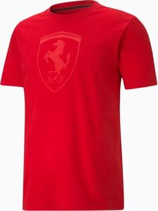 T-shirt Puma z nadrukiem z bawełny z krótkim rękawem