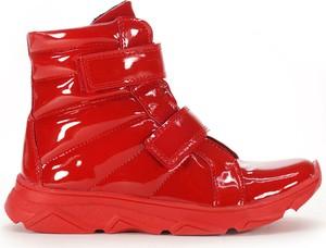 Czerwone buty dziecięce zimowe Kornecki