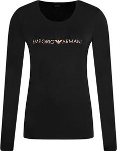 Bluzka Emporio Armani z długim rękawem z okrągłym dekoltem