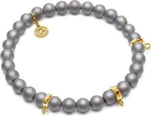 GIORRE ELASTYCZNA BRANSOLETKA HEMATYT DO 3 CHARMSÓW 925 : Kolor pokrycia srebra - Pokrycie Żółtym 24K Złotem