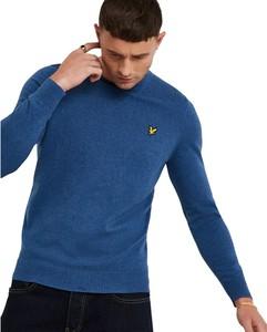 Niebieski sweter Lyle & Scott w stylu casual z wełny