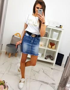 Spódnica Dstreet mini z jeansu w street stylu