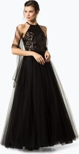 Sukienka Luxuar Fashion rozkloszowana w stylu glamour z tiulu