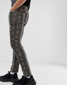 Brązowe jeansy Asos Design