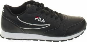 Czarne buty sportowe Fila sznurowane