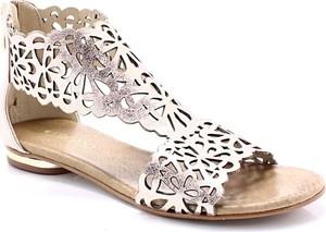 Złote sandały Tymoteo w stylu casual