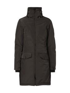 Czarna kurtka Wellensteyn długa w stylu casual
