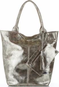 Złota torebka VITTORIA GOTTI do ręki duża w stylu glamour