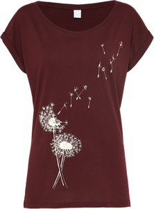 Bordowy t-shirt iriedaily