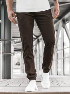 Brązowe spodnie ozonee.pl w młodzieżowym stylu