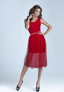 Sukienka Marselini z okrągłym dekoltem