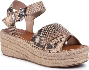 Sandały Aldo z tkaniny z klamrami