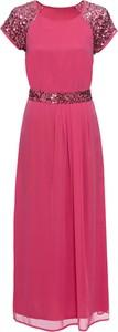 Sukienka bonprix BODYFLIRT maxi z szyfonu w stylu glamour