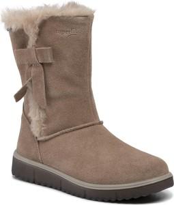 Buty dziecięce zimowe Superfit z goretexu na zamek
