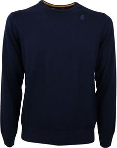 Niebieski sweter K-Way z wełny w stylu casual