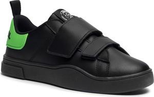 eobuwie.pl Sneakersy DIESEL - S-Clever Low Strap Y02384 P3413 H8167 Black/Green Fluo