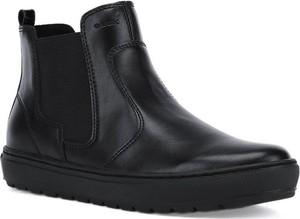 Czarne botki Geox w stylu casual