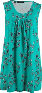 Turkusowa sukienka bonprix bpc bonprix collection mini oversize w stylu casual