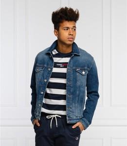 Niebieska kurtka Tommy Jeans z jeansu