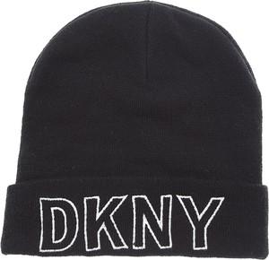 Czarna czapka DKNY