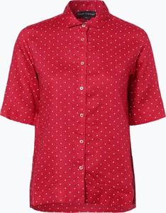 Bluzka Franco Callegari z kołnierzykiem z krótkim rękawem w stylu casual