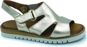 Srebrne sandały Lanqier z płaską podeszwą