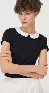 Bluzka Sinsay z krótkim rękawem z okrągłym dekoltem