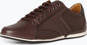 Brązowe buty sportowe BOSS Casual w stylu klasycznym