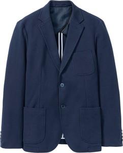 Niebieska marynarka bonprix bpc selection z bawełny