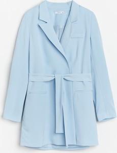 Niebieska sukienka Reserved w stylu casual mini z długim rękawem