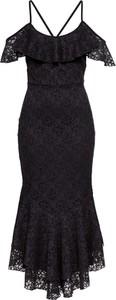 Czarna sukienka bonprix BODYFLIRT boutique hiszpanka