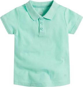 Miętowa koszulka dziecięca Cool Club z bawełny z krótkim rękawem