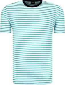 T-shirt Boss z lnu w stylu casual