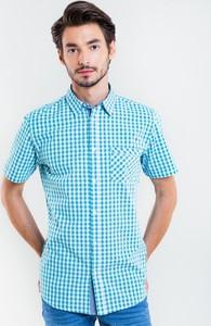 Niebieska koszula Big Star w stylu casual z klasycznym kołnierzykiem z krótkim rękawem